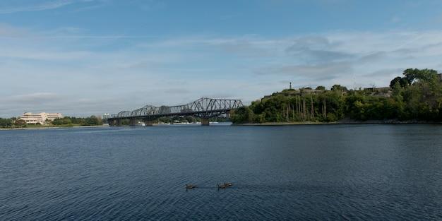 Alexandra bridge across ottawa river, ottawa, ontario, canada