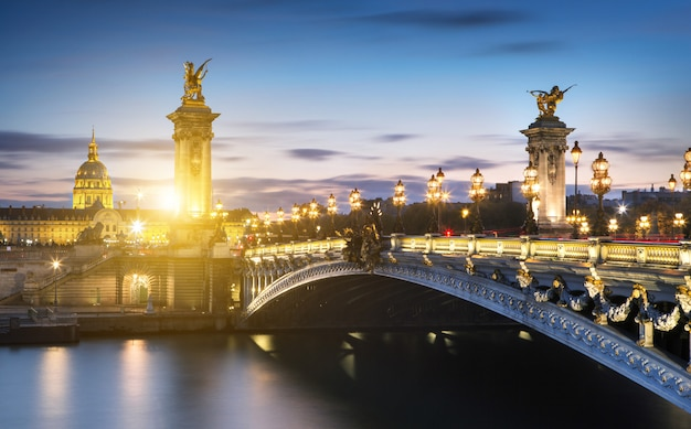 Alexandre 3 bridge in paris, france