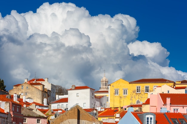 Alfama on a sunny afternoon, lisbon, portugal