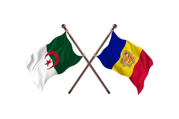 アルジェリア対アンドラ2つの旗
