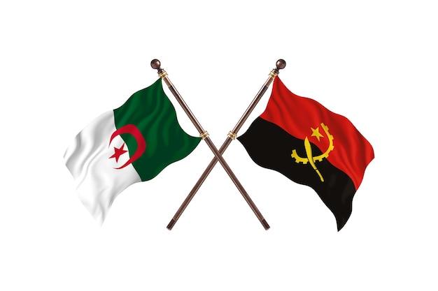 アルジェリア対アンゴラの2つの旗