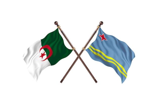 アルジェリア対アルバ2つの旗