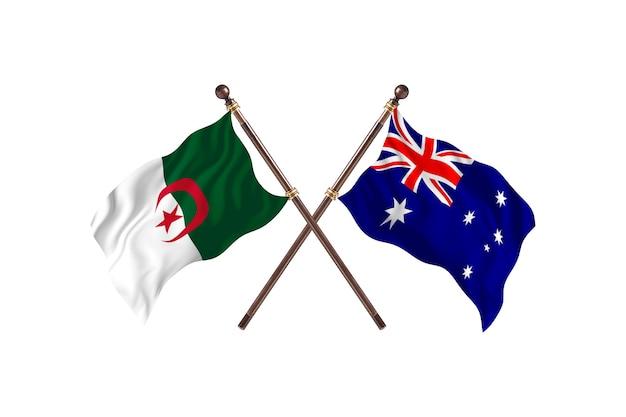 アルジェリア対オーストラリア2つの旗
