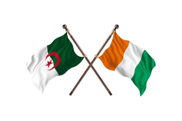 アルジェリア対コートジボワール2つの旗
