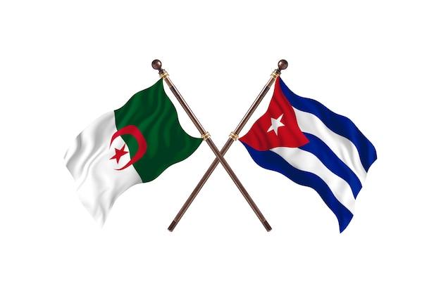 Algeria versus cuba two flags