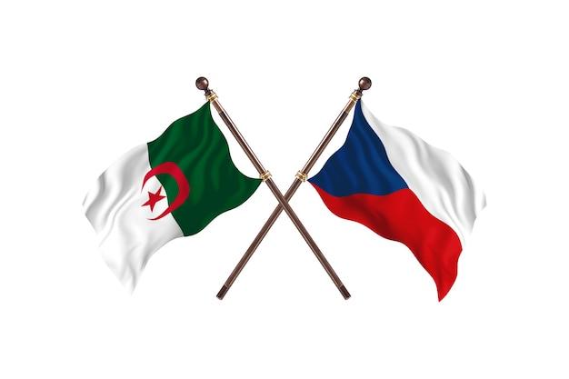 Algeria versus czech republic two flags