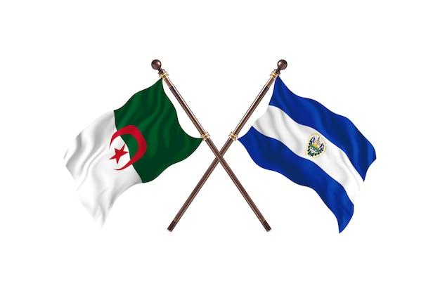 Algeria versus el salvador two flags