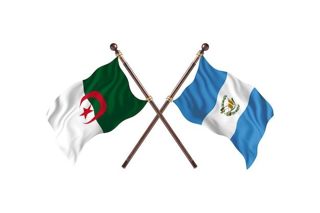 アルジェリア対グアテマラの2つの旗