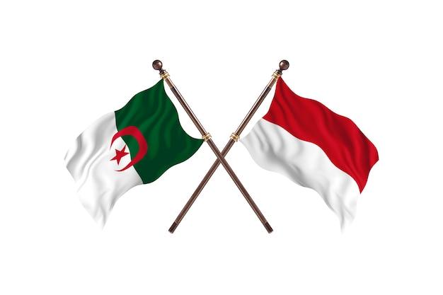 Algeria versus indonesia two flags
