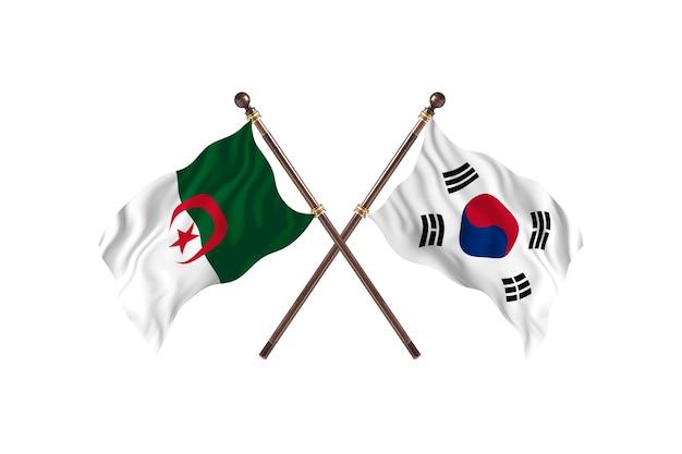 アルジェリア対韓国2つの旗