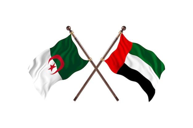 Algeria versus united arab emirates two flags