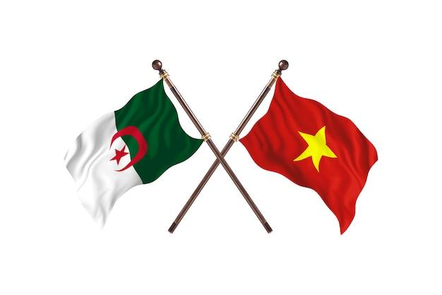 Algeria versus vietnam two flags