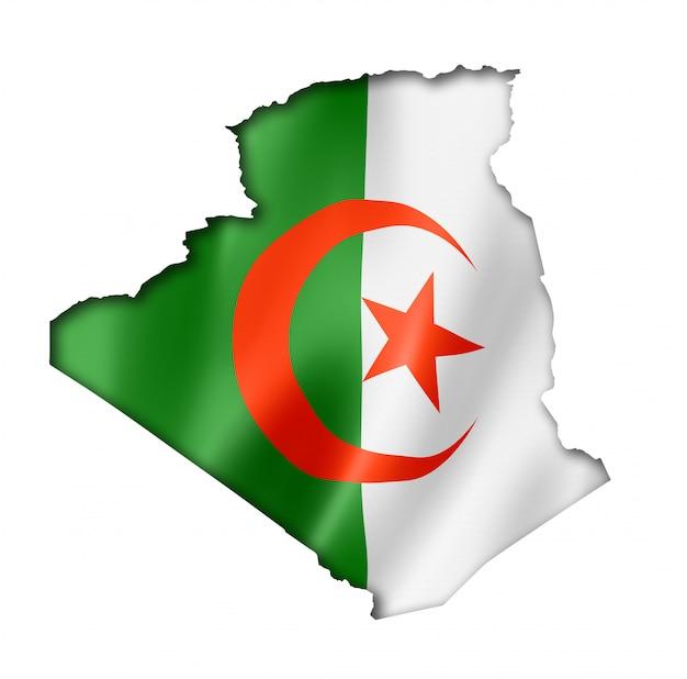 アルジェリアの旗の地図