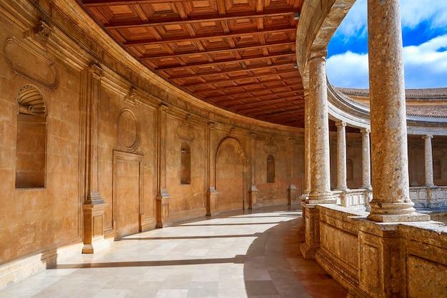 Alhambra carlos v courtyard in granada