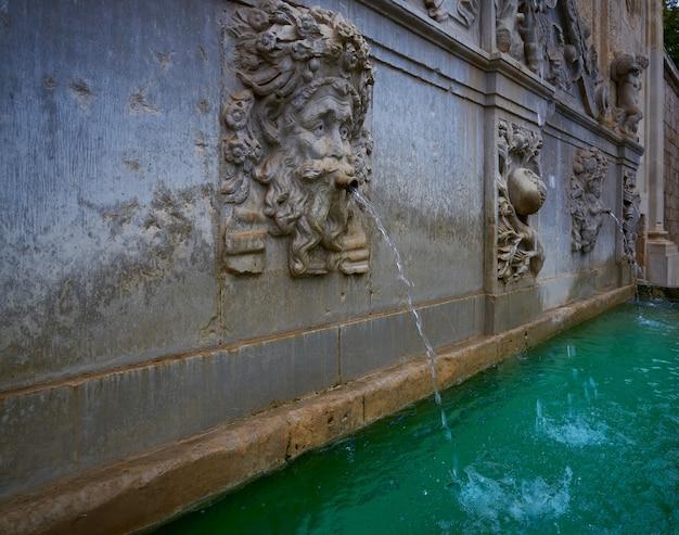 Alhambra fountain pilar de carlos v granada
