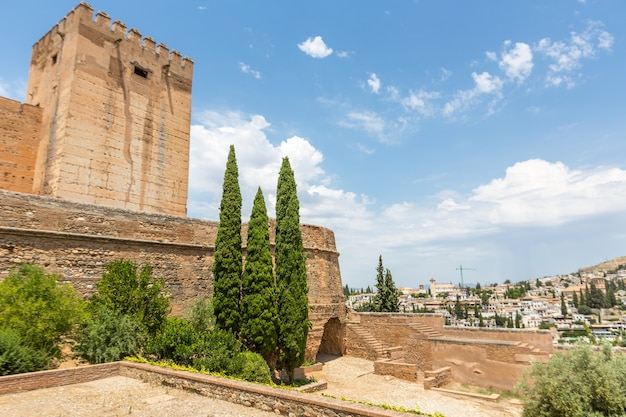 Alhambra in granada spain