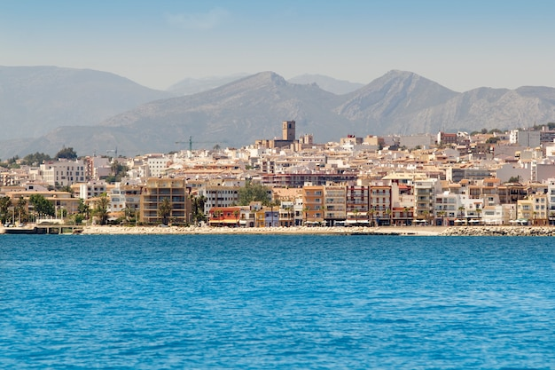 Alicante javea village view from mediterranean sea