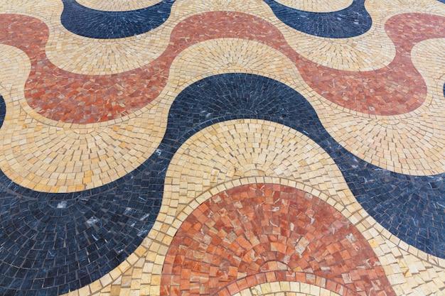 大理石のタイルのalicante la explanada de espanaモザイク