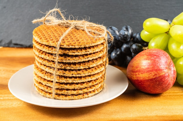 All butter waffles with a deliciously smooth caramel filling and a hint of cinnamon