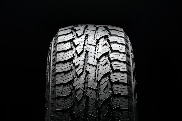 All terrain tire pattern , front tire view.