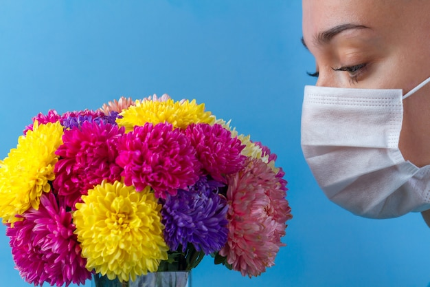 Allergy to flowers bloom and pollen