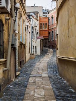 Alley at inner city of baku, azerbaijan