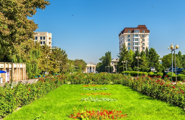 キルギスタンの首都ビシュケクの若者の路地