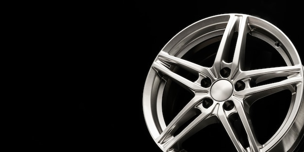 Alloy wheel in the shape of a star