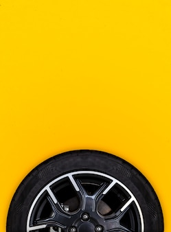 Alloy wheels with white background