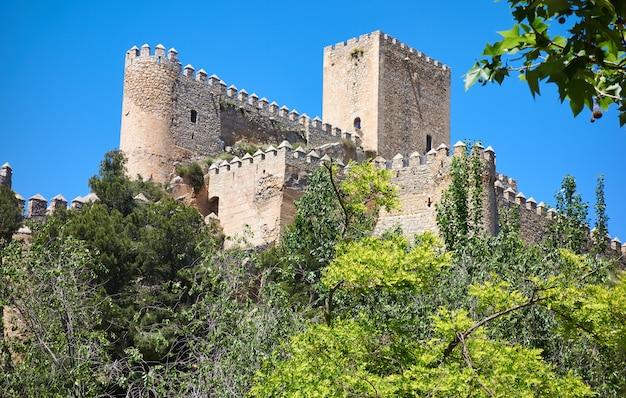 Almansa castle in albacete of spain