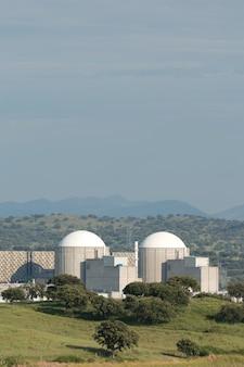 Almaraz nuclear power plant in the center of spain