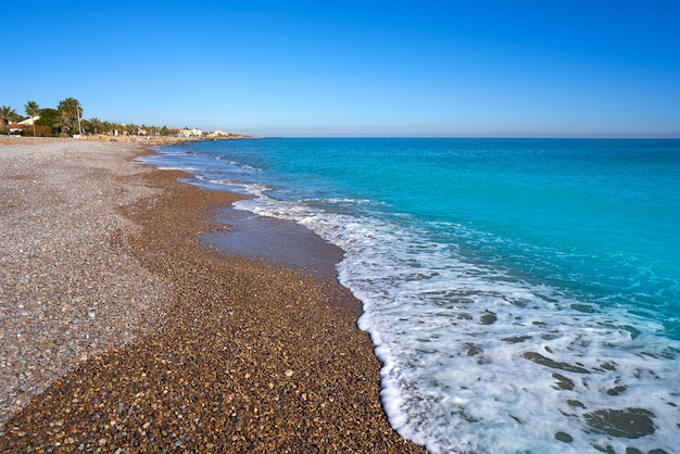 Almenara beach in castellon of spain