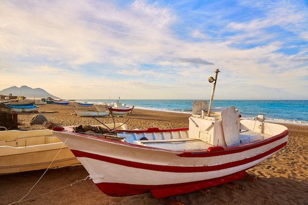 Almeria cabo de gata san miguel beach boats