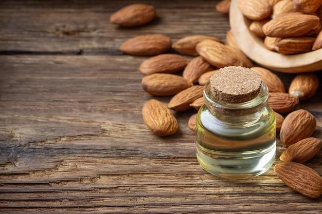 Almond oil in a bottle