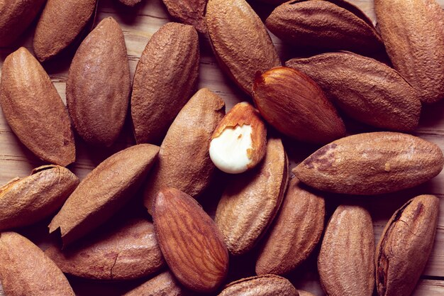 Almonds as a background