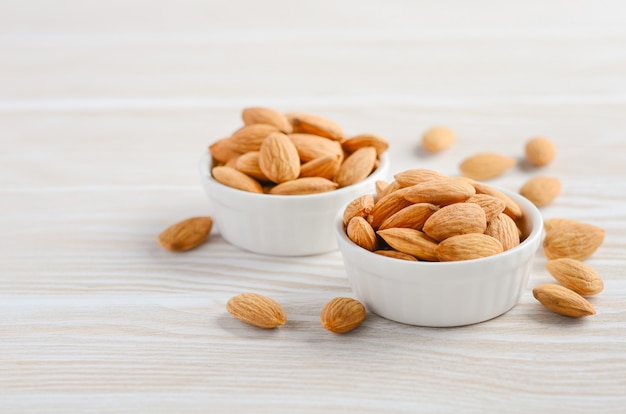 Almonds in a bowls