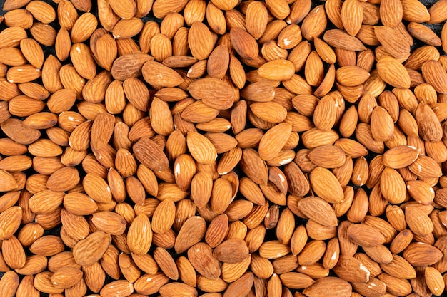Almonds closeup background