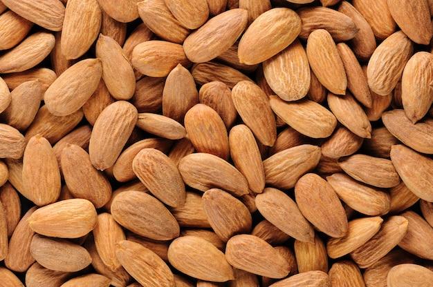 Almonds macro background