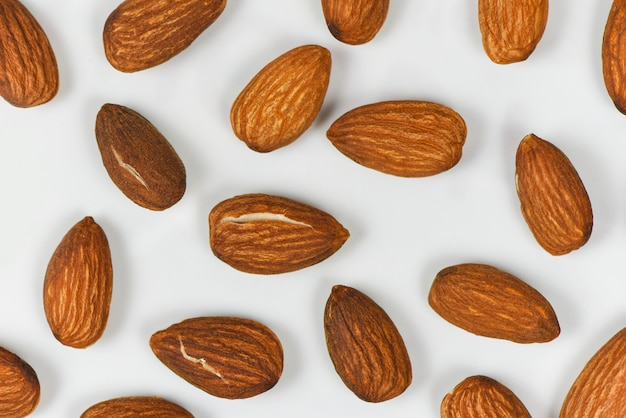 Almonds seamless texture background