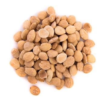 Almonds over white