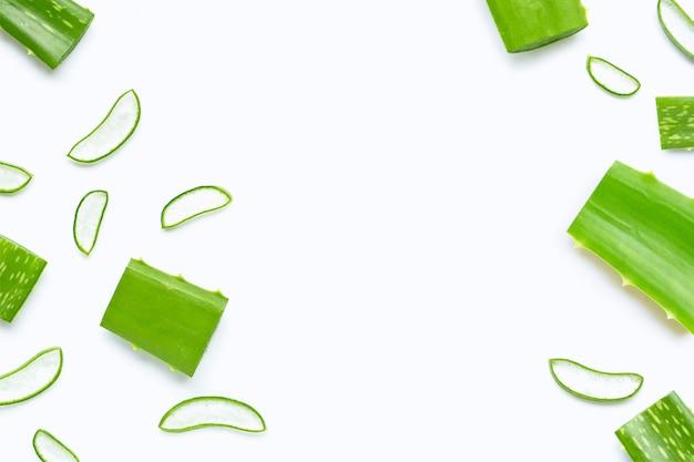 Aloe vera cut pieces with slices.