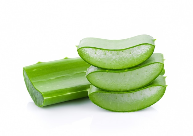 Aloe vera fresh leaf isolated