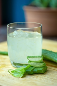 Aloe vera gel almost use in food medicine and beauty industry.