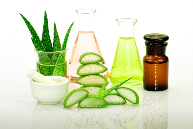 Aloe vera hair and facial treatment recipe.