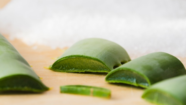 Aloe vera leaves for beauty treatment