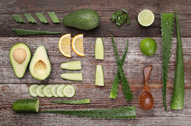 Aloe vera for skin care concept