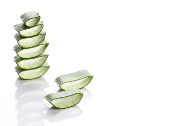 Aloe vera slices for skin care