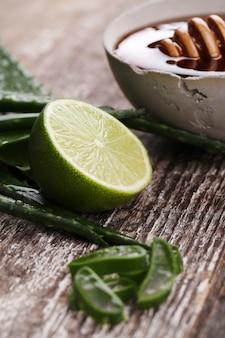 Aloe vera slices for skin care