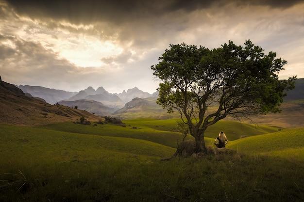 Alone outdoors landscape