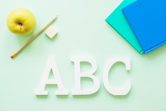 Alphabet characters with stationary